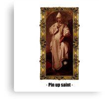 Pin up saint Canvas Print