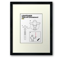 IKEA - LIGHTSABER KIT - star wars VII - 7  Framed Print