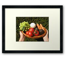 appetizing vegetables  Framed Print