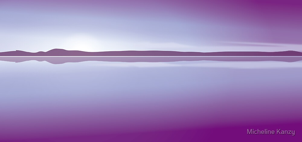 sunset  purple by Micheline Kanzy
