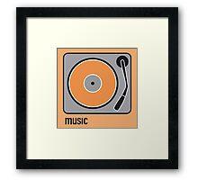 music orange Framed Print