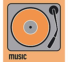 music orange Photographic Print