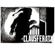 Clausferatu Christmas Card Poster