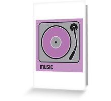 music purple Greeting Card