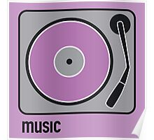 music purple Poster