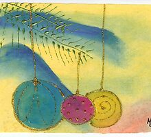 Three Ornaments 12c by Melinda Tarascio Lidke