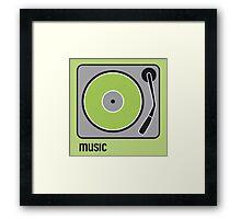 music green Framed Print