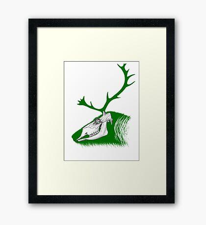 Rudolph the Green Reindeer Framed Print
