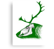 Rudolph the Green Reindeer Canvas Print