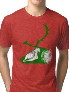 Rudolph the Green Reindeer Tri-blend T-Shirt