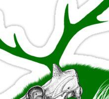 Rudolph the Green Reindeer Sticker