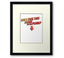 Can I Take This Snake On The Plane? Framed Print