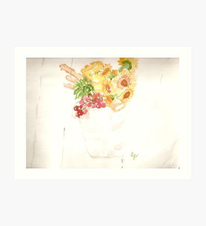 marthas vineyard - galvanized gift bucket Art Print