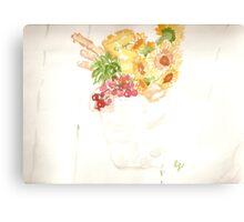 marthas vineyard - galvanized gift bucket Canvas Print