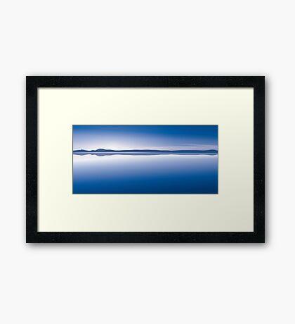 sunset blue Framed Print