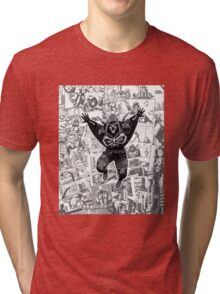 From Above Comic Tri-blend T-Shirt