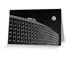 Plaza with moon Greeting Card