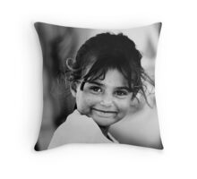 Angel smile Throw Pillow