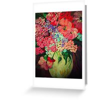 Fanciful Flowers Greeting Card