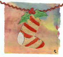 Christmas Sock Collage 5c by Melinda Tarascio Lidke
