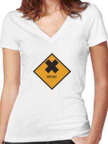 IRRITANT Women's Fitted V-Neck T-Shirt