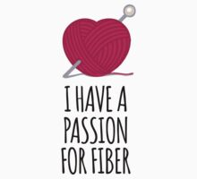 Amazing 'I Have a Passion For Fiber' Yarn and Knitting Gifts by Albany Retro