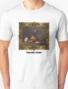 Poop with a flower Unisex T-Shirt