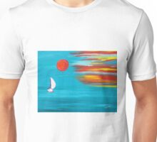 Sunset sail original art Unisex T-Shirt
