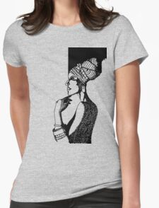 Afrika Woman Womens Fitted T-Shirt