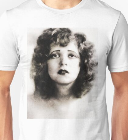 Clara Bow, Vintage Hollywood Legend Unisex T-Shirt