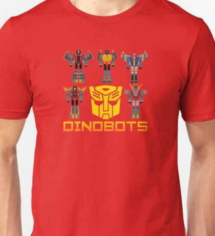 Transformers Dinobots (Red) Unisex T-Shirt
