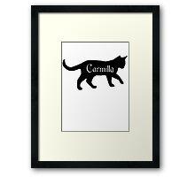 Carmilla the Cat Framed Print