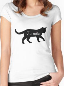 Carmilla the Cat Women's Fitted Scoop T-Shirt