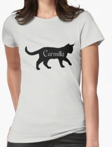 Carmilla the Cat Womens Fitted T-Shirt