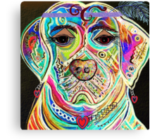 LADY BOXER Canvas Print
