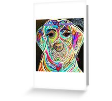 LADY BOXER Greeting Card