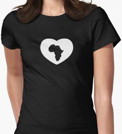HEART OF AFRICA Womens Fitted T-Shirt
