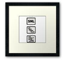 Jimmy Fallon TV History Framed Print