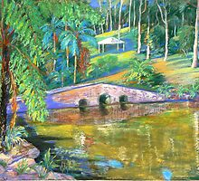 Stone Bridge #2 Tamborine by Virginia McGowan