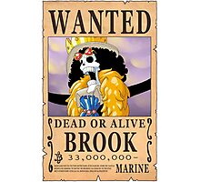One Piece - Wanted Poster - Brook Photographic Print