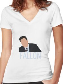 Jimmy Fallon Women's Fitted V-Neck T-Shirt