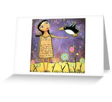 Fly Penguin Fly! Greeting Card