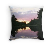 Beaver Dam Sunset II Throw Pillow