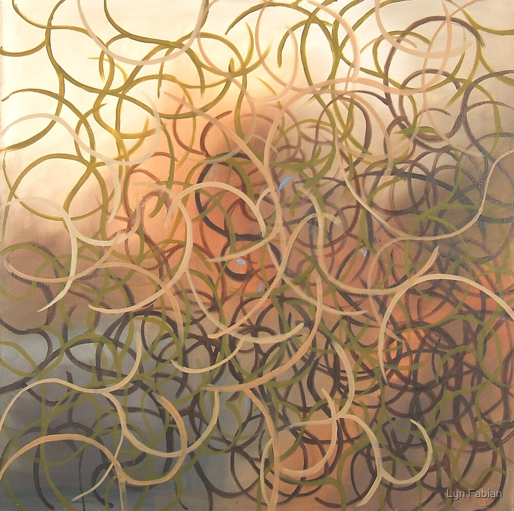 Abstract 3 (Entangled) by Lyn Fabian