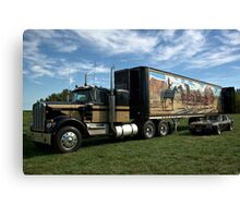 "1974 Kenworth W900A ""Smokey and the Bandit"" Semi Truck Replica Canvas Print"