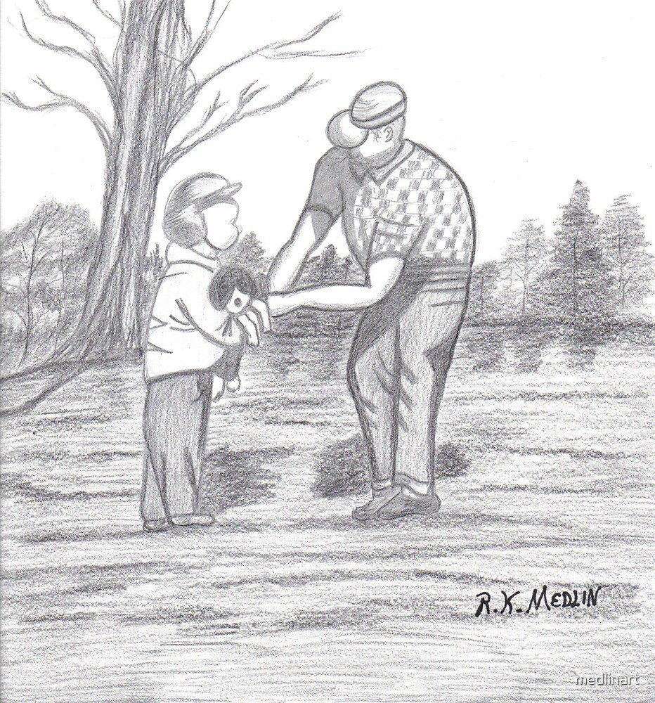 "In The Moment ""Grandpa And I"" by medlinart"