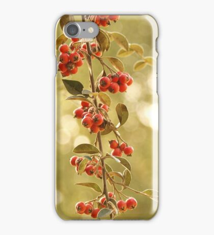 Red Blossoming Berries Growing from Trees iPhone Case/Skin