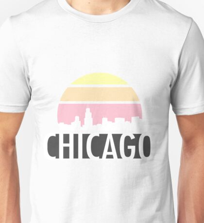 Chicago Skyline Sunset Silhouette  Unisex T-Shirt