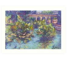 Balboa Gardens (pastel) Art Print