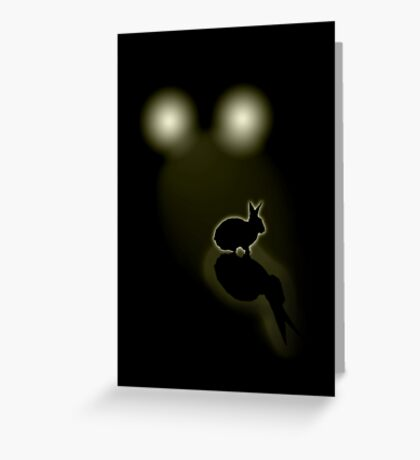 Rabbit in your headlights (Card) Greeting Card